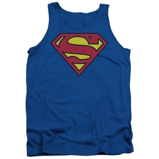 Men's Cotton Blue Superman Classic Tank Shirt