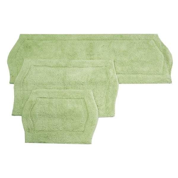 WaterFord Rug 3-piece Bath Rug Set in Green