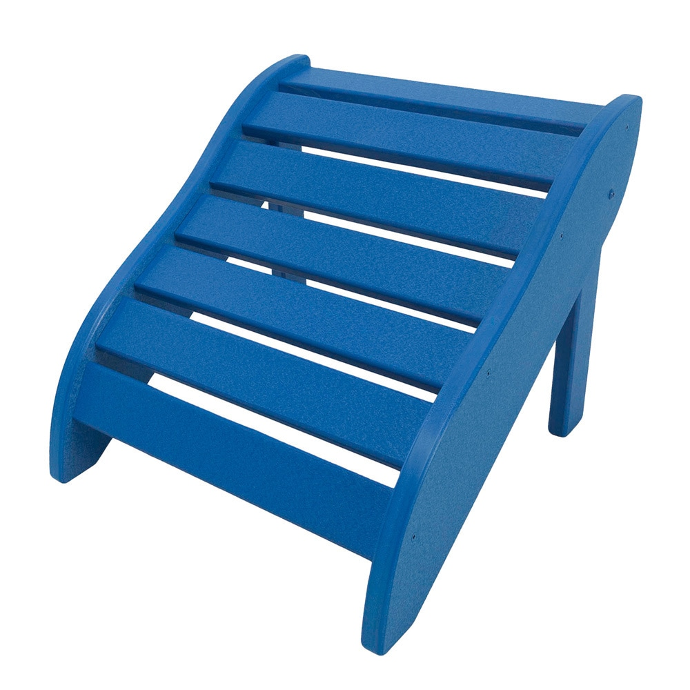 Blue Wooden Foot Rest (blue), Size Single, Patio Furniture