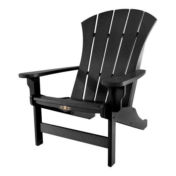 Sunrise Black Adirondack Chair