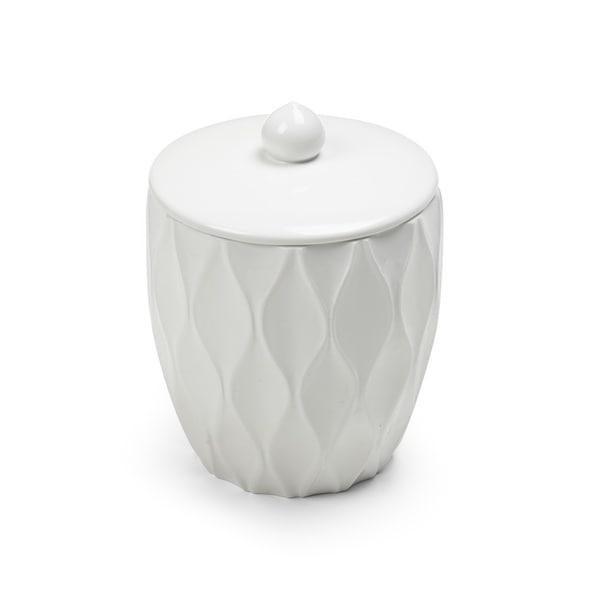 Wave White Cotton Jar