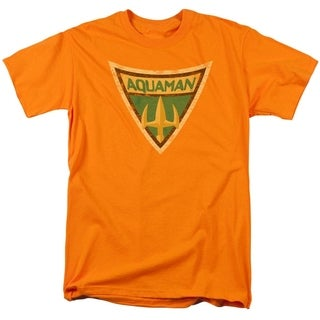 Men's Aquaman Symbol Orange T-Shirt