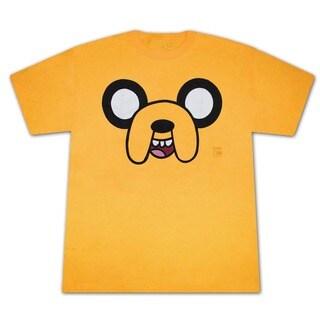 Men's Yellow Adventure Time Jake Face T-Shirt