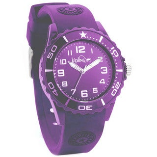 Kipling Children's Purple Silicon Watch|https://ak1.ostkcdn.com/images/products/10359205/P17467190.jpg?_ostk_perf_=percv&impolicy=medium