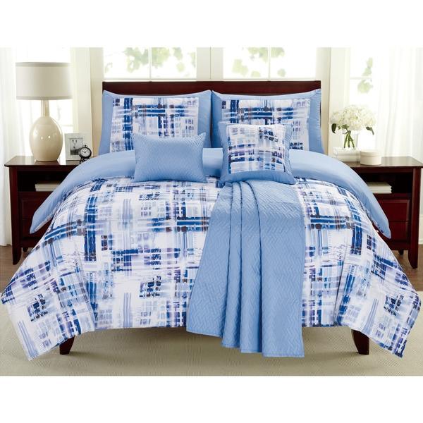 Maddox Blue Juvi 6-piece Comforter Set