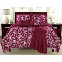 Mayan Raspberry 6-piece Comforter Set