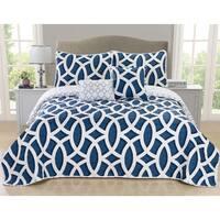 Carmine 5-piece Quilt Set