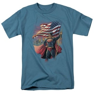 Men's American Flag Superman Shirt
