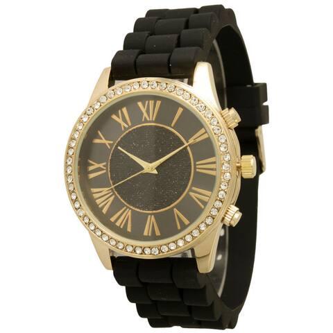 Olivia Pratt Women's Silicone Center Sparkle Watch