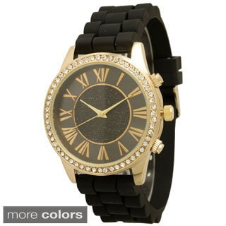 Olivia Pratt Women's Silicone Center Sparkle Watch