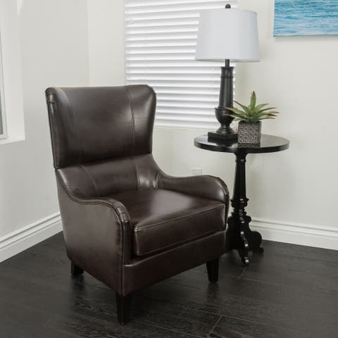 Elijah Bonded Leather Sofa Chair by Christopher Knight Home