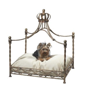 Antique Gold Iron Crown Pet Bed