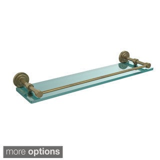 Allied Brass Dottingham 22-inch Glass Shelf with Gallery Rail