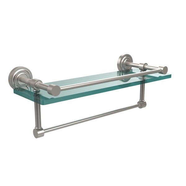 shop allied brass dottingham 16 inch gallery glass shelf with towel bar 16 l on sale free