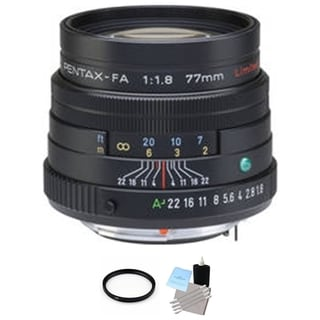 Pentax Telephoto SMCP-FA 77mm f/1.8 Autofocus Lens + UV Filter & Cleaning Bundle