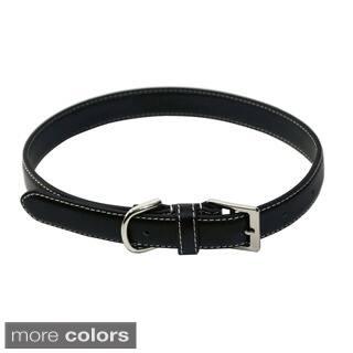 Royce Leather 'Perry Street' Medium Dog Collar|https://ak1.ostkcdn.com/images/products/10359415/P17467363.jpg?impolicy=medium