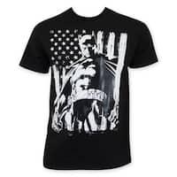 Men's Chalk American Flag Batman Tee Shirt