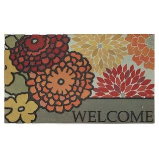 Mohawk Home Doorscapes Modern Bouquet Spice (1'6 x 2'6)