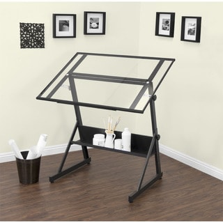 Superieur Shop Studio Designs Solano Adjustable Glass Top Drafting Table   Free  Shipping Today   Overstock.com   10359544