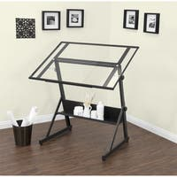 Studio Designs Solano Adjustable Glass Top Drafting Table