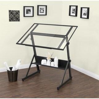 Studio Designs Solano Adjustable Glass Top Drafting Table