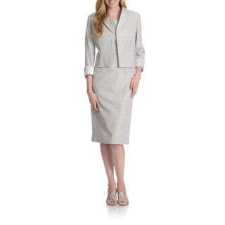 Giovanna Signature Women's Iridescent Stretch Brocade 2-piece Jacket Dress