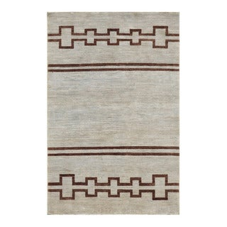 Herat Oriental Afghan Hand-knotted Tribal Vegetable Dye Gabbeh Wool Rug (4'2 x 6'4)