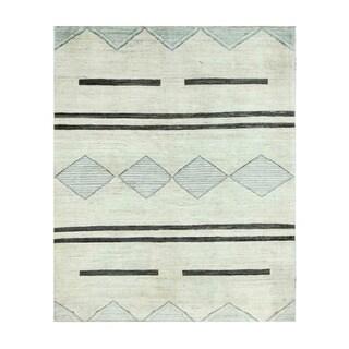 Herat Oriental Afghan Hand-knotted Tribal Vegetable Dye Gabbeh Wool Rug (5'10 x 7'3)