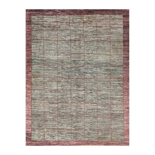 Herat Oriental Afghan Hand-Knotted Tribal Vegetable Dye Gabbeh Green/ Rust Wool Rug (5'5 x 7'4)