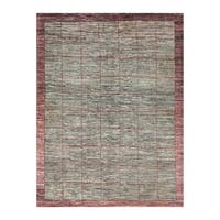 Herat Oriental Afghan Hand-knotted Tribal Vegetable Dye Gabbeh Wool Rug (5'5 x 7'4) - 5'5 x 7'4