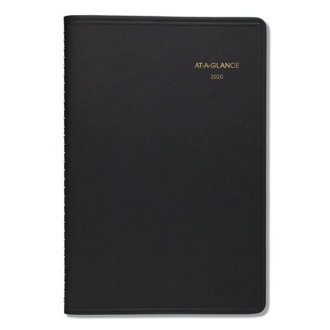 AT-A-GLANCE Daily Appointment Book with 15-Minute Appointments, 8 x 4 7/8, Black, 2019