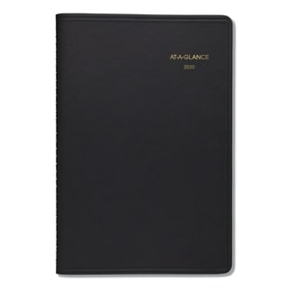 AT-A-GLANCE Daily Appointment Book with 15-Minute Appointments, 8 x 4 7/8, Black, 2018