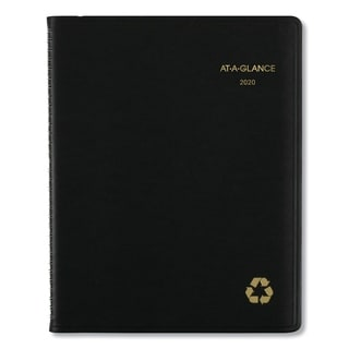 AT-A-GLANCE Recycled Weekly/Monthly Classic Appointment Book, 8 1/4 x 10 7/8, Black, 2018