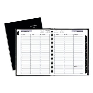 AT-A-GLANCE DayMinder Hardcover Weekly Appointment Book, 8 x 11, Black, 2018