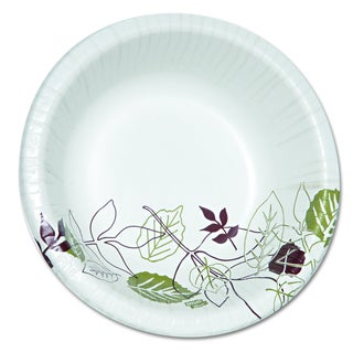 Dixie Ultra Pathways 20 oz Heavyweight Green/Burgundy Paper Bowls (Pack of 500)