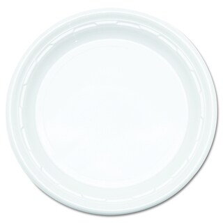 Dart Famous Service Plastic White Impact 9 inch Dinnerware Plates (Pack of 125)