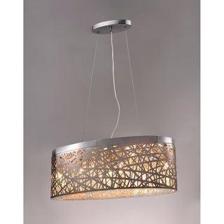 Kaylee 7-light Chrome 23-inch Crystal Pendant Lamp
