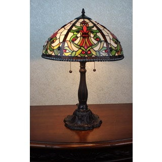 Victoria 2-light Tiffany-style 16-inch Table Lamp
