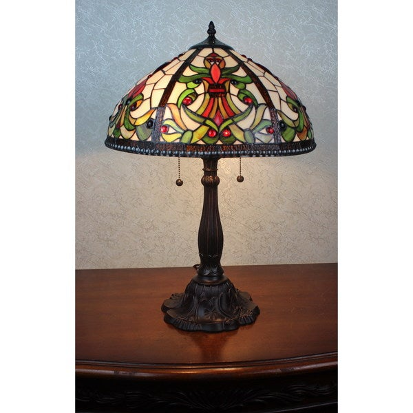 Shop Victoria 2 Light Tiffany Style 16 Inch Table Lamp