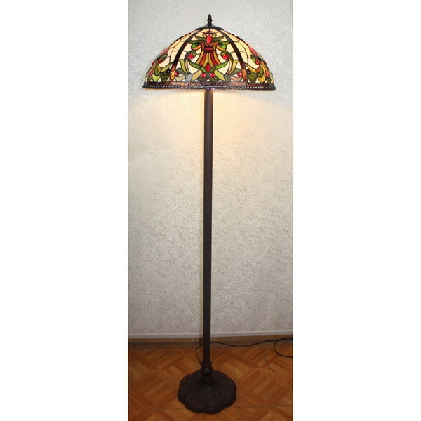 Shop Mila 2 Light Tiffany Style 18 Inch Floor Lamp Free