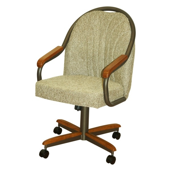 Rolling Dinette Chairs: Casual Dining Barell Swivel And Tilt Rolling Dining Chair