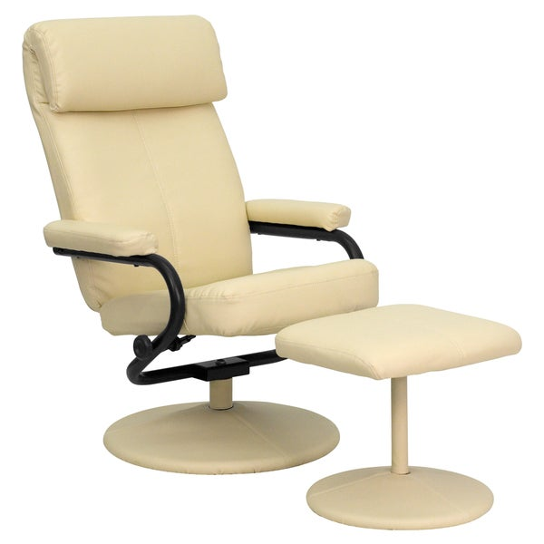 Contemporary Leather Recliner And Ottoman Free Shipping