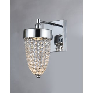 Nora 1-light Chrome Crystal 6-inch Wall Lamp