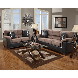 Exceptional Designs by Flash Laredo Micrifiber Living Room Set