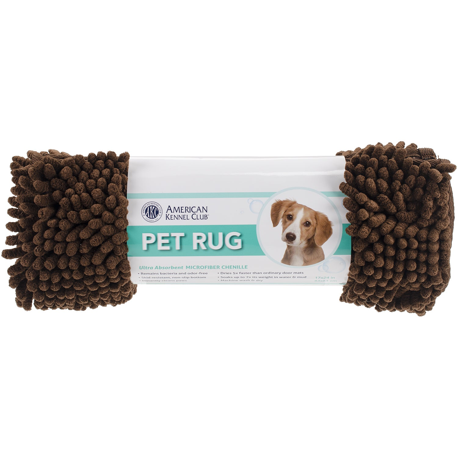 Pet Gear Dri-Tail Rug -Brown (Large 26x36in), Blue wash