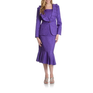 Giovanna Signature Women's Ruffled Skirt Suit