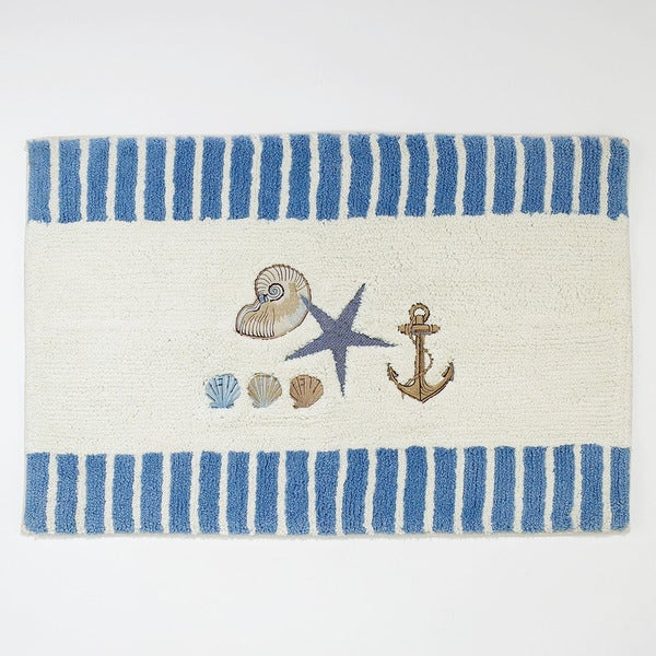 Antigua Nautical Bath Rug