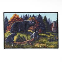 Black Bear Lodge Bath Rug