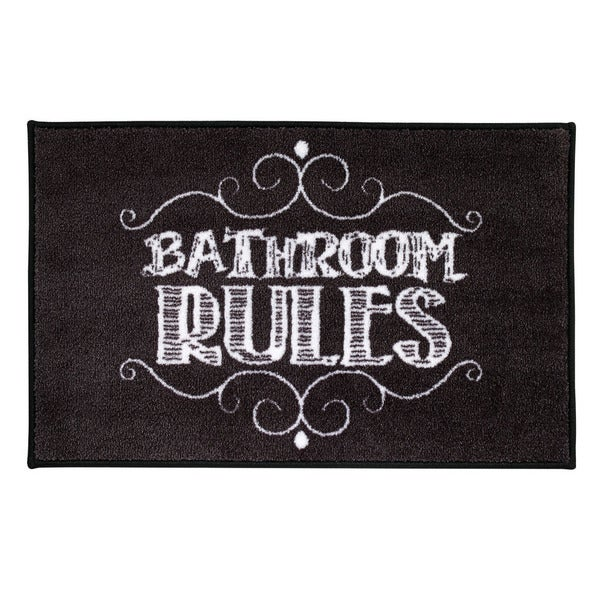 Avanti Chalk It Up 'Bathroom Rules' Nylon Bath Rug
