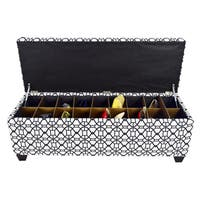 The Sole Secret Noah Windsor Button Tufted Shoe Storage Bench